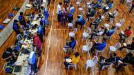 People register at a vaccination centre in Selangor, Malaysia's most populous state.