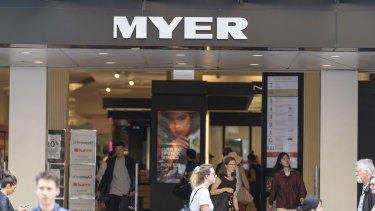 Myer will close all stores for four weeks.