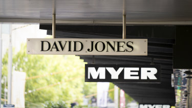 Major insurers are becoming increasingly cautious about providing cover to suppliers of Myer and David Jones.