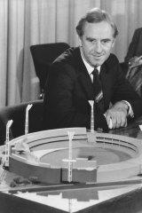 John Cain with a model of the MCG.