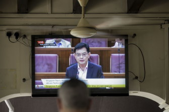 Singapore's Deputy Prime Minister Heng Swee Keat annoucing a major new economic stimulus package.