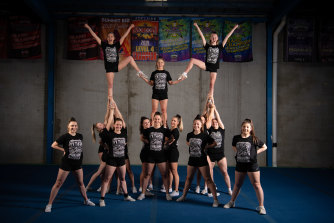 The Southern Cross Lady Reign cheer team trained by Zoom in lockdown to prepare for their 2021 Cheerleading World Championship win.