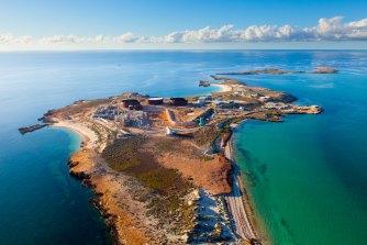 Varanus Island is home to an oil and gas hub.