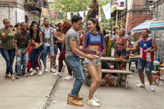A scene from In the Heights, which has opened the 2021 Tribeca Festival in New York.