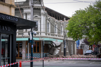 A Chapel Street building crumbled as shockwaves hit Melbourne and were felt as far away as Tasmania.