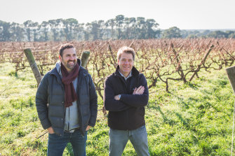 Will Byron (at left) and Mike Symons from Stonier, Mornington Peninsula, Victoria.