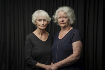 June Smith, left, and Lynette Kinghorn had their babies forcibly removed from them in the 1960s because they were unwed.