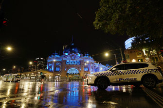 Flinders Street Station was lit up in blue last week.