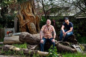 Sculptor Leigh Conkie (left) and documentary director Ryan Gaskett.