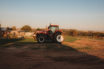 Jeff Ballon's cattle and wheat property in Maclagan, Central Queensland,