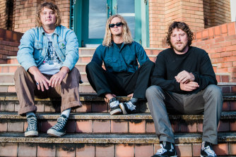 Byron Bay punk trio Skegss, whose album Rehearsal topped the ARIA chart in March.