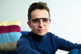 It was odd to see Masha Gessen in a domestic setting.