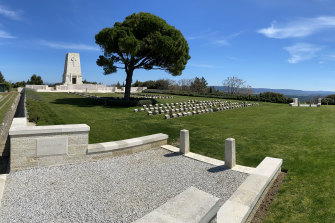 The cemetery at Lone Pine this week. It is closed to visitors.