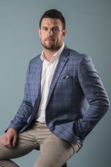 Luke Burgess is the new face of Johnny Bigg.