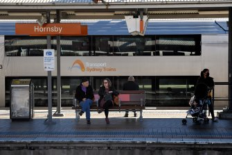Public transport numbers are down 50 per cent on this time last year.