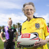 Deidre Rae, Australia's first female rugby league referee, meets NRL referee Belinda Sharpe.