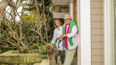 Peter Weiss and his wife, Doris, at their Palm Beach home.