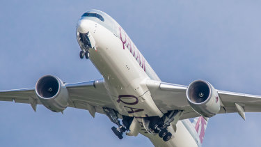 Qatar Airways flew 45 per cent of international travellers to and from Australia in April.