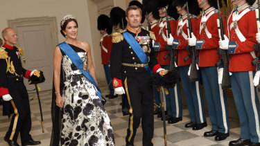 Style queen ... Princess Mary and Crown Prince Frederik this week.
