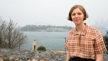 Victoria King, prize-winning architect in front of Goat Island in Sydney.