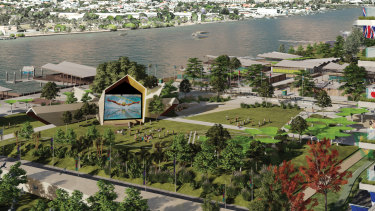 The proposed athletes' village for the 2032 Brisbane Olympic Games.