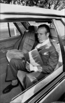 Sir Laurence Street arrives at Government House with the report of the Wran Royal commission on July 28, 1983.