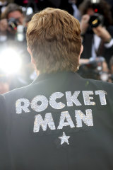 Elton John at the premiere of the film Rocketman.