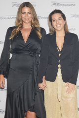 Fiona Falkiner and Hayley Willis at the launch of the Ferrari F8 Tributo.