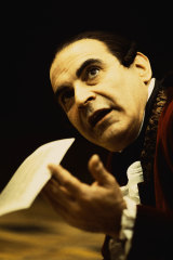 David Suchet as Antonio Salieri in Amadeus.