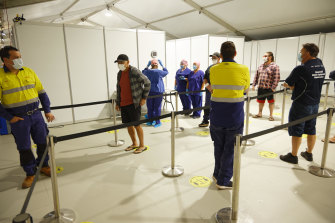 Rio Tinto tests its workers for COVID-19 before they fly out to remote sites across WA.