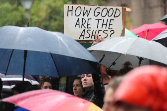 Climate change protesters rallying in Melbourne.