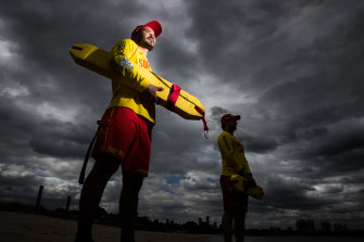 Life guards Ramzi Hussaini and Dylan Griffiths have helped patrol Victorian beaches where there has been the greatest number of drownings on record.