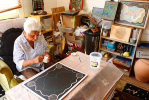 Daphne started painting at the age of 77.
