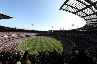 The 2019 AFL grand final at the MCG.