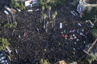 Hundreds of thousands of mourners were estimated to have attended funeral ceremonies for General Qassem Soleimani in Iran.