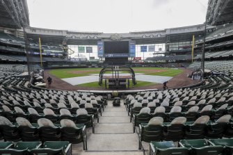 There were no games at Miller Park on the weekend after several Cardinals tested positive for coronavirus.