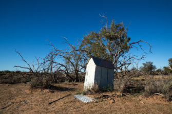 An outback outhouse on the Narriearra station.