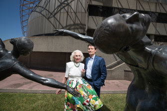 Lady Primrose Potter with Australian Ballet chief David McAllister.