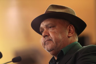 """""""It's time for true constitutional recognition"""": Noel Pearson at the National Museum of Australia on Wednesday."""