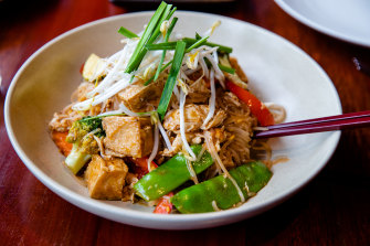 Pad Thai with tofu.
