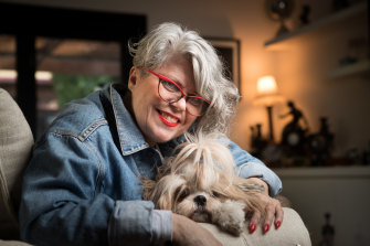 Dr Sally Cockburn, pictured here with her dog Molly, is bringing her radio persona Dr Feelgood back to national airwaves on Saturday nights.