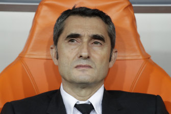 Ernesto Valverde has been sacked as Barca coach.