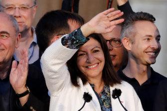 Paris mayor Anne Hidalgo claims victory on Sunday.