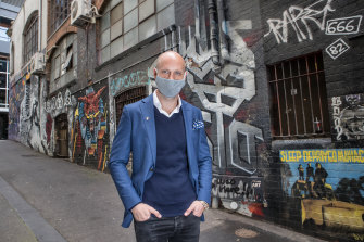 Nick Russian runs a range of businesses including events, cleaning, labor hire and soon-to-open nightclub Bambi at the old Cherry Bar site in ACDC Lane.