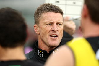 Tigers coach Damien Hardwick is more concerned with on-field matters.