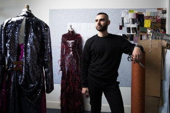 Striking back ... Yousef Akbar at his studio in Sydney.