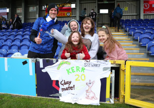 Support for Sam Kerr at Kingsmeadow on Sunday.