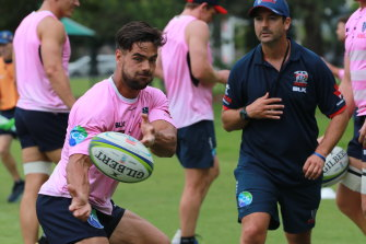 Ryan Louwrens is one of three changes the Rebels have made to their starting side against the Waratahs.