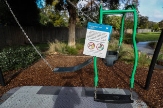 Melbourne's playgrounds were closed for a brief period.