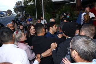 Supporters of Former Rugby player Jarryd Hayne were involved in an incident outside of the courthouse.